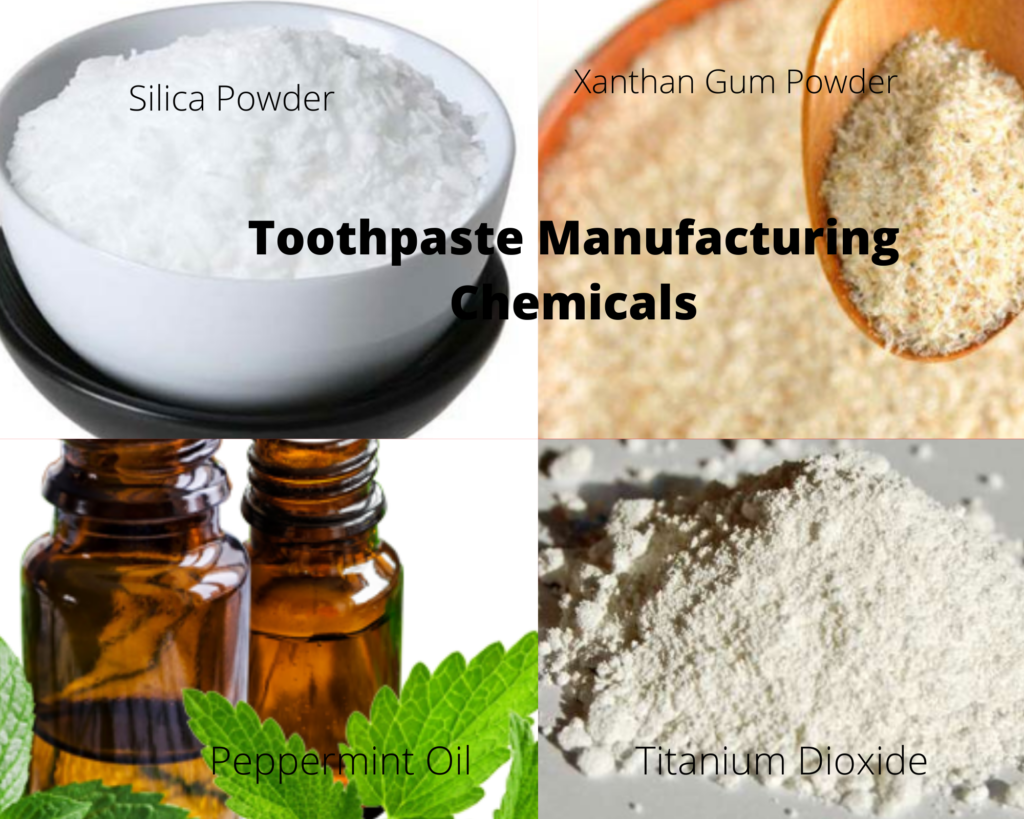 Toothpaste manufacturing chemicals